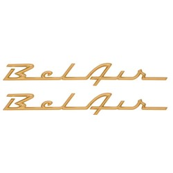 "1957 ""Bel Air"" Scripts (Gold) Show Quality"