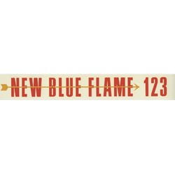 Blue Flame 123 Valve Cover Decal